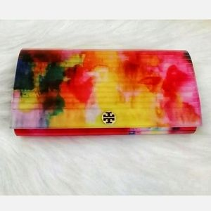 Tory Burch Watercolor Resin Rayna Clutch